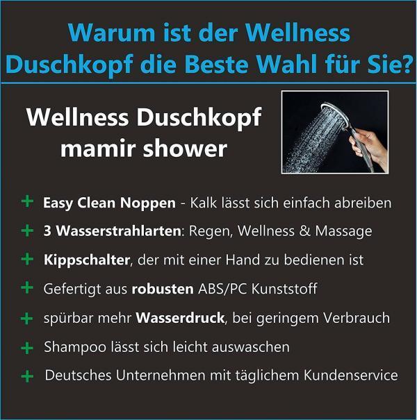 Infos Wellness Duschkopf